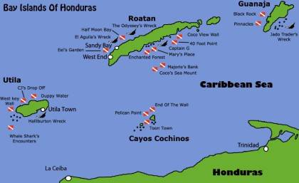 Honduras_duiken_EWDR_dive_diving_liveaboard__kaartje honduras-bay-islands